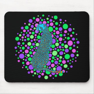 Colorful Cheetah Computer Mouse Pad