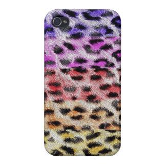 Colorful cheetah fur print iphone 5 case