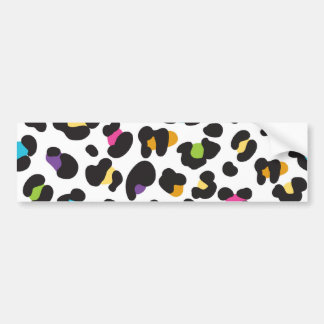 Colorful Cheetah Leopard Print Gifts for Teens Bumper Sticker
