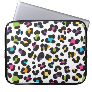 Colorful Cheetah Leopard Print Gifts for Teens Computer Sleeve