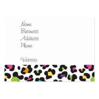 Colorful Cheetah Leopard Print Gifts for Teens Large Business Card