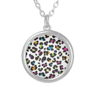 Colorful Cheetah Leopard Print Gifts for Teens Personalized Necklace