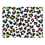 Colorful Cheetah Leopard Print Gifts for Teens Post Cards