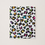 Colorful Cheetah Leopard Print Gifts for Teens Puzzles