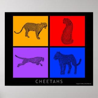 Colorful Cheetah Posters