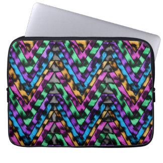 Colorful Cheetah Zig Zag Computer Sleeve