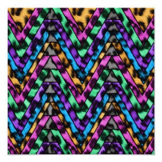 Colorful Cheetah Zig Zag Photo Print