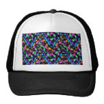 Colorful Cheetah Zig Zag Trucker Hat