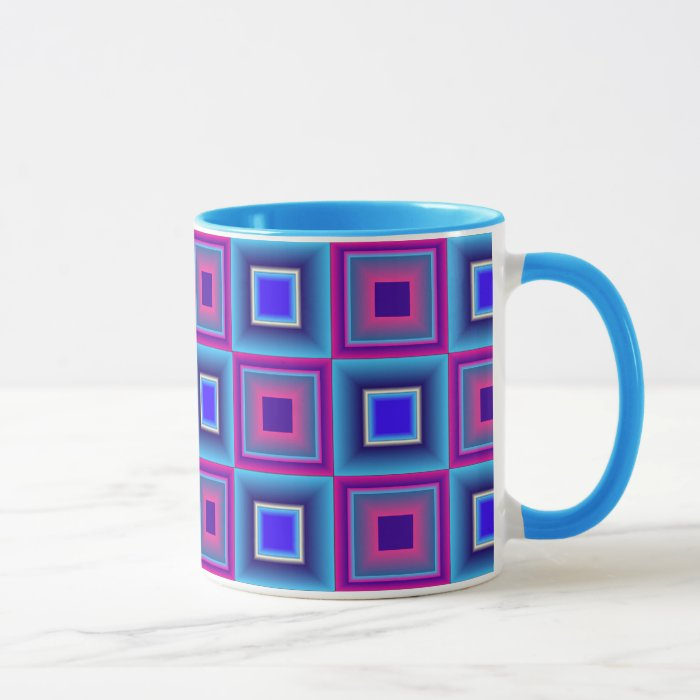 Colorful Chequer pattern Mug
