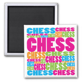 Colorful Chess 2 Inch Square Magnet