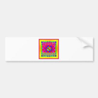 Colorful Chessboard & Pieces Bumper Sticker