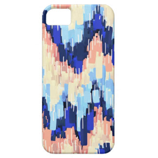 Colorful Chevron Abstract Painting in Blue iPhone 5 Covers