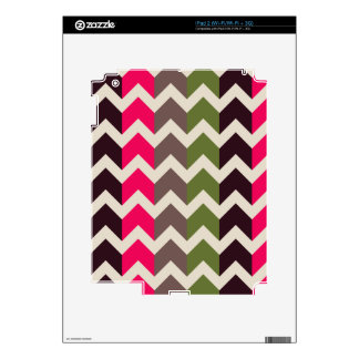 Colorful Chevron and Stripes Pattern Skins For The iPad 2