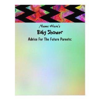 Colorful Chevron Baby Shower Letterhead