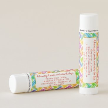 Professional Business Colorful Chevron Business Marketing Lip Balms