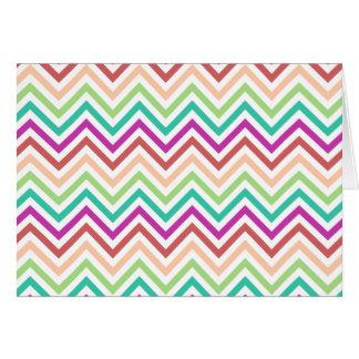 Colorful Chevron Card