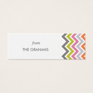 Colorful Chevron Custom Gift Tags