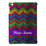 Colorful chevron damask pattern iPad mini case