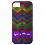 Colorful chevron damask pattern iPhone 5 case