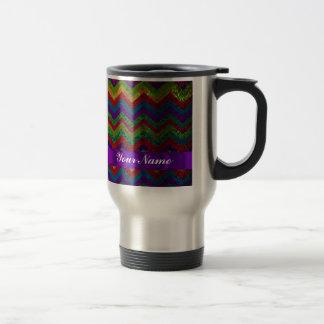 Colorful chevron damask pattern 15 oz stainless steel travel mug