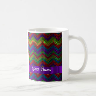 Colorful chevron damask pattern coffee mugs