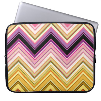 Colorful chevron design computer sleeve