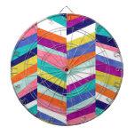 Colorful Chevron Geometric Abstract Dart Board