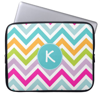 Colorful Chevron Monogram Lap Top Sleeve Computer Sleeves