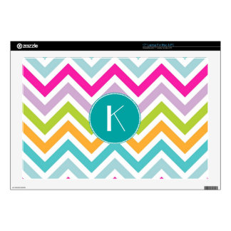 Colorful Chevron Monogram Laptop Skin