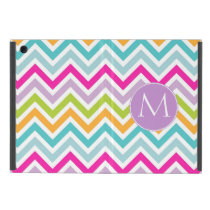 Colorful Chevron Monogram Mini iPad Case
