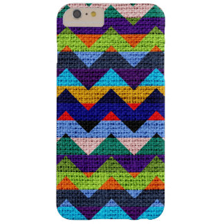 Colorful Chevron Pattern Burlap Jute #11 Barely There iPhone 6 Plus Case