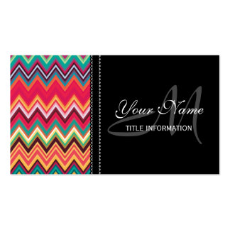 Colorful Chevron Pattern Business Card