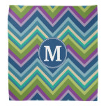Colorful Chevron Pattern Custom Monogram Do-rag