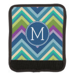 Colorful Chevron Pattern Custom Monogram Handle Wrap