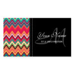 Colorful Chevron Pattern Double-Sided Standard Business Cards (Pack Of 100)