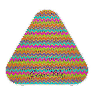 colorful chevron pattern personalized by name speaker