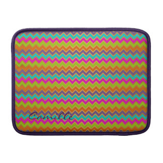 colorful chevron pattern personalized with name sleeves for MacBook air