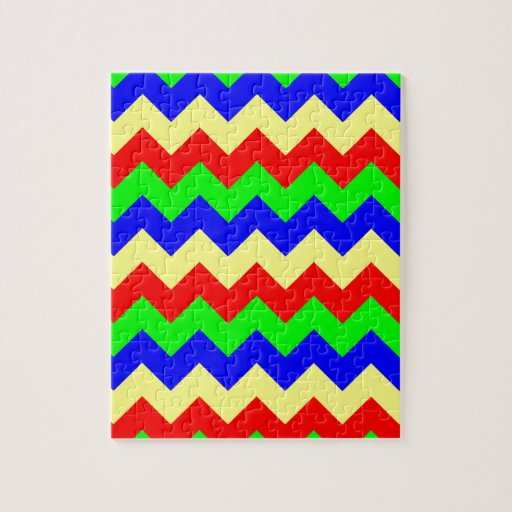 Colorful Chevron Pattern Jigsaw Puzzle