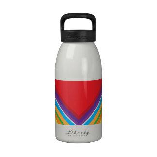 Colorful Chevron Pattern Reusable Water Bottles
