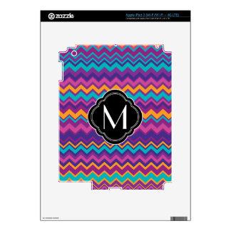 Colorful Chevron Pattern with Monogram iPad 3 Skin