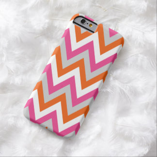 Colorful Chevron Pink White Orange Pattern Barely There iPhone 6 Case