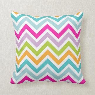 Colorful Chevron Print Throw Pillow