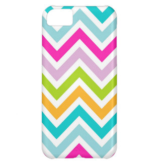 Colorful Chevron Stipes Pattern Cover For iPhone 5C