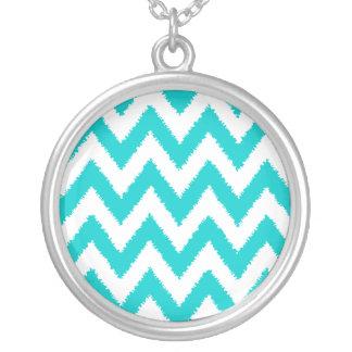 Colorful chevron stripe necklace