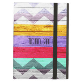 Colorful Chevron Stripe Vintage Wood #6 iPad Air Cover