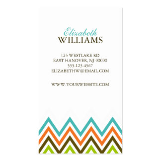 Colorful Chevron Stripes Double-Sided Standard Business Cards (Pack Of 100)