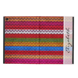 Colorful Chevron Stripes Custom Monongram #11 Case For iPad Air
