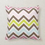 Colorful Chevron Stripes Throw Pillows