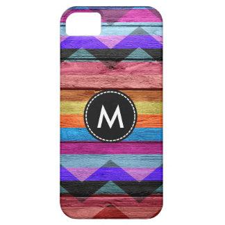 Colorful Chevron Stripes Wood Vintage #11 iPhone SE/5/5s Case