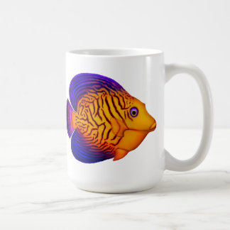 Colorful Chevron Tang Reef Fish Mug